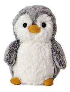 Aurora POMPOM PENGUIN SMALL Baby//Toddler Cuddly Teddy Soft Toys Plush Gift BN