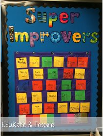 EduKate and Inspire: Whole Brain Teaching: Using a Super Improver Wall to Motivate Students Super Improvers Wall, Emotional Books, School Classroom, Classroom Ideas, School Teacher, Flipped Classroom, Classroom Design, Classroom Behavior Management, Class Management