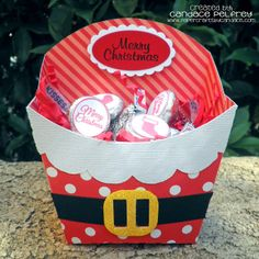 Paper Crafts by Candace: Santa Fry Box.  I think I have a Cricut cartridge that has a fry box.