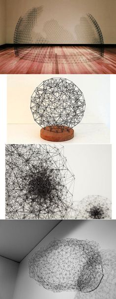 .5mm Pencil Lead Sculptures by Peter Trevelyan
