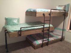 Triple bunk space-saver