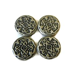 Silver Metal Tribal Connector Beads by CloudNineSupplyShop on Etsy, $6.00