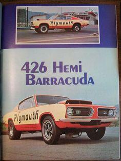 Plymouth 426 Hemi Barracuda Ad.