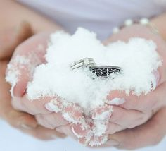 Winter Wedding Ideas - Rings in the Snow - Click pic for 25 DIY Wedding Decorations | Small Budget Wedding Ideas