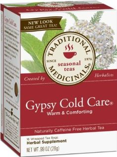 Traditional Medicinals Gypsy Cold Care Herbal Tea 16-Count Wrapped Tea Bags (Pack of 6)