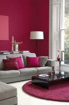 modernes wohnzimmer gestalten wohnzimmer einrichten wandpaneele tv ... - Wohnzimmer Grau Magenta