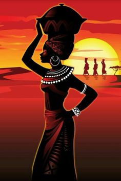 African Women And Other Bad Sisters African Artwork, African Art Paintings, African Prints, African Fabric, Black Girl Art, Black Women Art, African Beauty, African Women, Afrique Art