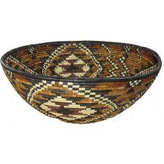Zulu Isisquabetho Basket    Illala Palm Baskets made in KwaZulu Natal, South Africa