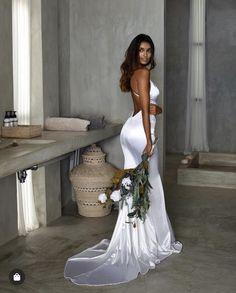 Spaghetti Straps V-Neck Cheap Mermaid Modest Prom Dresses Dream Wedding Dresses, Bridal Dresses, Prom Dresses, Formal Dresses, Reception Dresses, Studio Minc, Wedding Goals, The Dress, Dream Dress