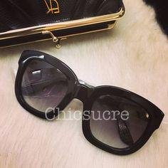 9f922cd9ea5 emmanuelle khanh signature 5050 black sunglasses limited series NEW