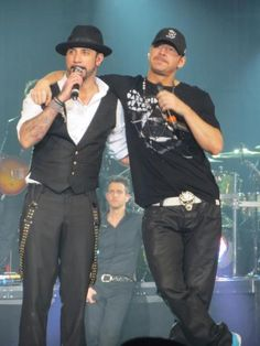 AJ McLean and Donnie Wahlberg (Oh Yeah the bad boys)
