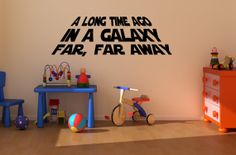 A long time ago in a galaxy far far away decal by raaa100 on Etsy, $23.99