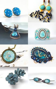 Blue jewelry for you  by Erzsébet Kis Jakab on Etsy--Pinned with TreasuryPin.com