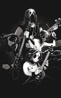 Heavy Metal Comic, Heavy Metal Art, Black Metal, Death Metal, Metal Drawing, Rock Poster, Dark Art Illustrations, Gothic Metal, Black Cartoon