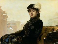 Portrait Of An Unknown Woman Painting by Ivan Nikolaevich Kramskoy