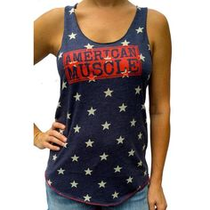 Show our love for this great country of ours with the SoRock American Muscle tank Product Features Super SoftTri-blend constructionPerfect for your next WODSpec