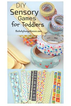 DIY Sensory Games for Toddlers Using Washi Tape and Craft Popsicle Sticks