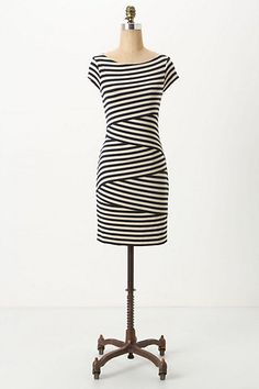 currently having a thing for stripes...  Cap Sleeve Column Dress - Anthropologie.com