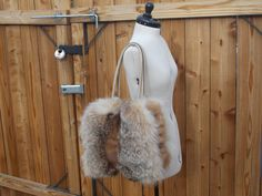 Real Extra Fluffy Fox and Mink Bag by DawnONeillDesigns on Etsy