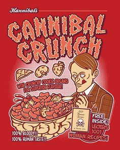 """Cannibal Crunch"", T-Shirt de Hannibal en Shirtpunch.com"