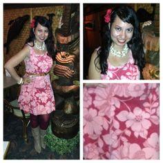 Cute mod Hawaiian outfit.
