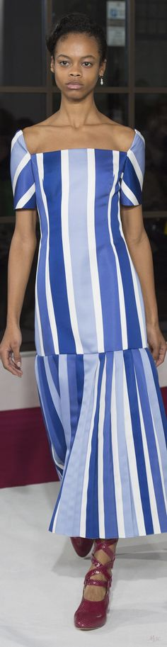 Fall 2018 RTW Emilia Wickstead Stripes Fashion, Blue Fashion, Autumn Fashion, Womens Fashion, Wordpress, Nagel Blog, Fashion Week 2018, Emilia Wickstead, Fashion Designer