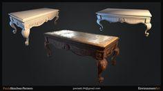 ArtStation - PBR Antique Table, Paula Sánchez-Ferrero