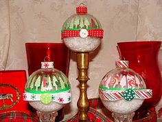 Snow Globe Christmas Ornaments using the Cricut!