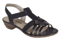 Remonte R0869 Ladies Flower Detail Slip On Casual Sandal - Robin Elt Shoes  http://www.robineltshoes.co.uk/store/search/brand/Remonte/ #Spring #Summer #SS14 #2014 #Sandals