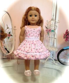 Summer dress and shoes made to fit 18 American Girl by menabella