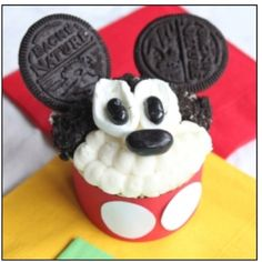 Idea for B-day #2 for our E  - Mickey Cup Cake