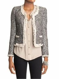 chanel jacket or a tweed one that looks just like it haha