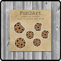 Cute Stickers/ Planner Stickers/ Chocolate Chip Cookies by Creative Studio, Cute Stickers, Planner Stickers, Chocolate Chip Cookies, Unique Jewelry, Handmade Gifts, Diy, Vintage, Kid Craft Gifts