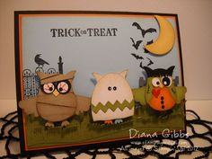 Owl Punch Art for Halloween Halloween Punch, Halloween Cards, Halloween Owl, Happy Halloween, Fall Cards, Holiday Cards, Scrapbooking Halloween, Owl Punch Cards, Owl Card