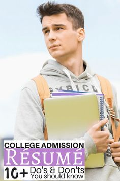 Excellent tips for creating a college admission résumé to help college-bound s. Excellent tips for creating a college admission résumé to help college-bound students get into the school that's right for them. High School Resume, College Resume, College Checklist, Nursing Resume, College Planning, Scholarships For College, Education College, College Hacks, School Hacks