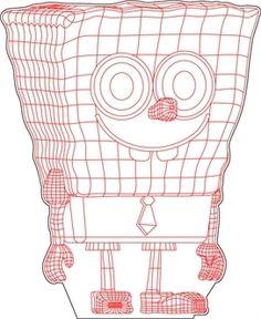 SpongeBob 3D illusio