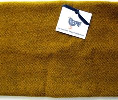 Felted Wool Fabric Fat Quarter - Hand Dyed Wool Fabric - Mustard Herringbone - Applique or Rug Hooking Wool by SimplyUniqueBySheila on Etsy