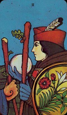 Two of Wands - Morgan-Greer Tarot by Bill Greer, Lloyd Morgan
