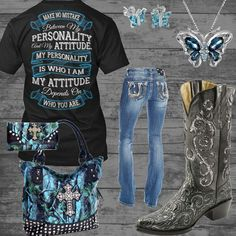 My Personality and My Attitude Outfit – Real Country Ladies Source by Country Girl Outfits, Country Wear, Country Girl Style, Country Fashion, Country Shirts, My Style, Country Life, Country Music, Camo Outfits