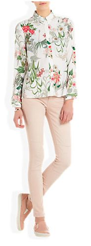 Just wear this blouse and spring will come automatically!