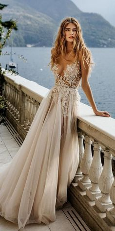 12 Sweet Ivory Wedding Dresses: Must Have For Brides ❤ ivory wedding dresses a line lace top beach berta ❤ #weddingdresses #weddingoutfit #bridaloutfit #weddinggown Bridal Outfits, Bridal Gowns, Wedding Gowns, Berta Bridal, Colored Wedding Dresses, Boho Wedding Dress, Fairytale Bridal, Gowns Of Elegance, Ivory Wedding