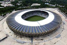 Imagem aérea do estádio Mineirão, em Belo Horizonte (MG)