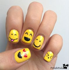 Smiley face nails! :D ;)