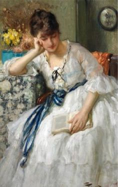 Daydreaming. Fernand Toussaint (Belgian, 1873-1955). Oil on canvas.