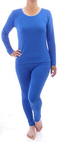 WebAisle Women's Soft Thermal Underwear Set Top and Bottom Fleece Lined -- Click image to review more details.