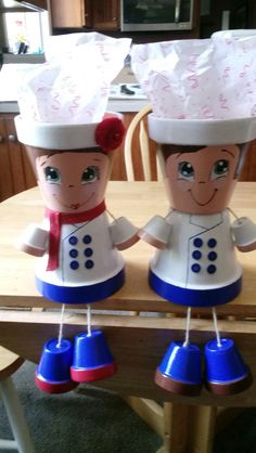 Clay pot people sailors boy/ girl