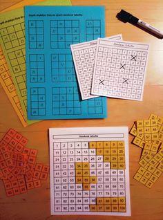 Produkt - Aktivity se stovkovou tabulkou Maths, Periodic Table, Diagram, Club, School, Math Games, Teaching Aids, Periodic Table Chart, Periotic Table