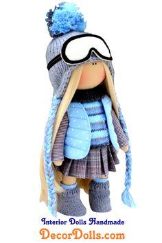 Muñecas Bambole Doll, Puppen Tilda Doll, Winter Doll Handmade, Cloth Textile Doll by Olga P Primitive Doll Patterns, Doll Patterns Free, Doll Clothes Patterns, Clothing Patterns, Free Pattern, Homemade Dolls, Digi Stamps, Stuffed Toys Patterns, Fabric Dolls