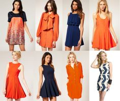 war eagle orange and blue auburn game day dresses