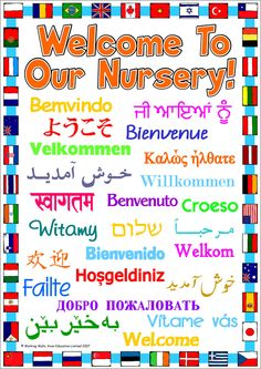 This is a Welcome Sign for an ESL classroom that containing the word Welcome into many different languages. The sign is bordered by many different international flags and is perfect to place outside your classroom door or under a name plate. Classroom Walls, Classroom Design, Future Classroom, Classroom Themes, Classroom Organization, Classroom Environment, 1st Day Of School, School Days, School Stuff